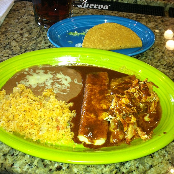 Create Your Own Combo-Beef Taco, Chicken Tamale & Cheese Enchilada @ 7 Tequilas Cantina
