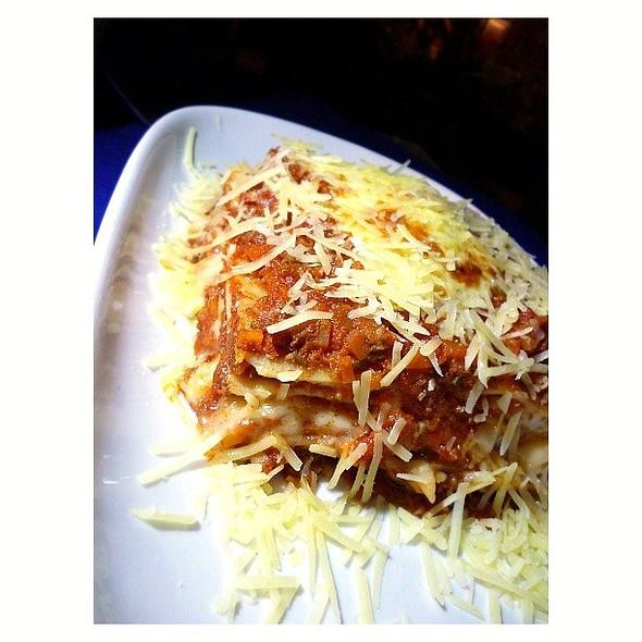 Beef Lasagna from @saleepepe @ Sale e pepe (italian restaurant)