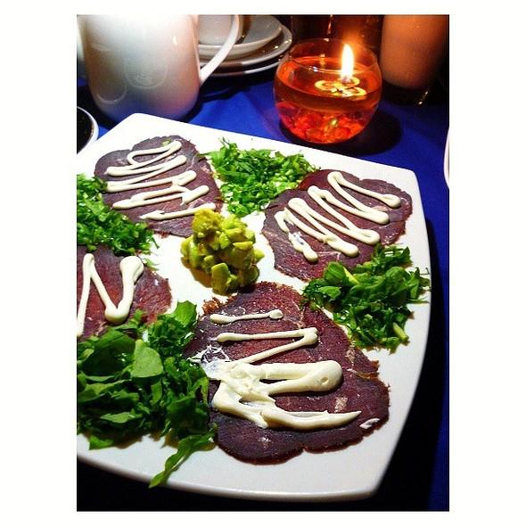 Air dried beef carpaccio with avocado salad from @saleepepe @ Sale e pepe (italian restaurant)