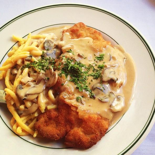 Jagerschnitzel And Spaetzle - Teske's Germania Restaurant, San Jose, CA