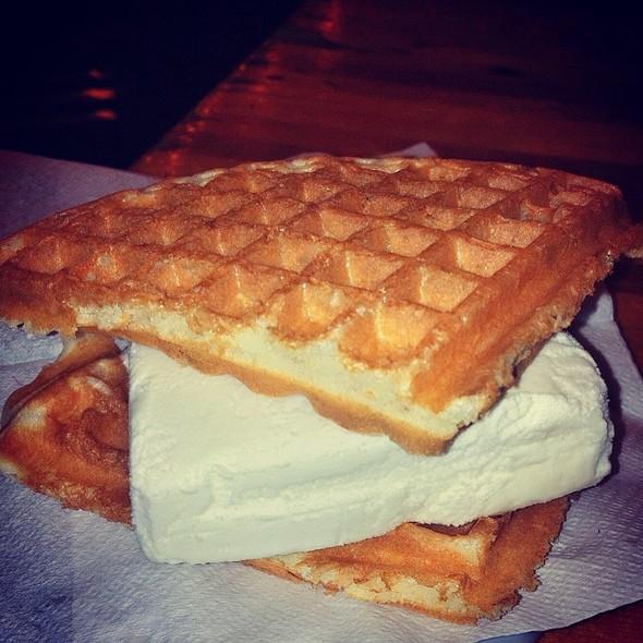 Waffle Ice Cream Sandwich @ Knoebels Amusement Resort
