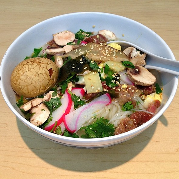 ! From the make-your-own-amazing-Asian-noodle-bowl-bar. Now with a soy sauce egg. @ Yahoo! - Building F
