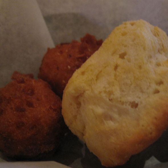 Hush Puppies & Biscuit - The Pit Authentic BBQ, Raleigh, NC