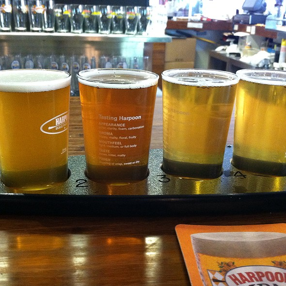 Harpoon Beers Samples @ Harpoon Brewery
