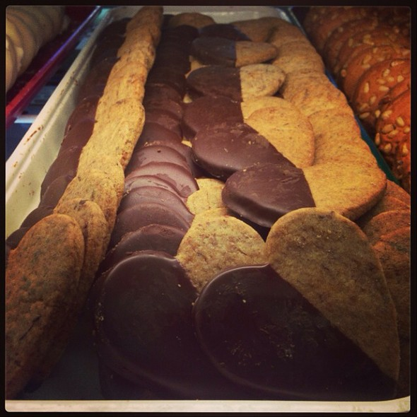 Chocolate Dipped Espresso Shortbread Cookies at Mandola's Italian ...