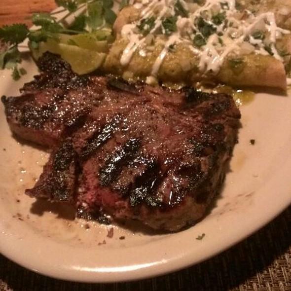 T-bone with Enchiladas and Salsa Verde