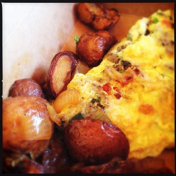 Omelette And Those Potatoes @ Alon's Bakery