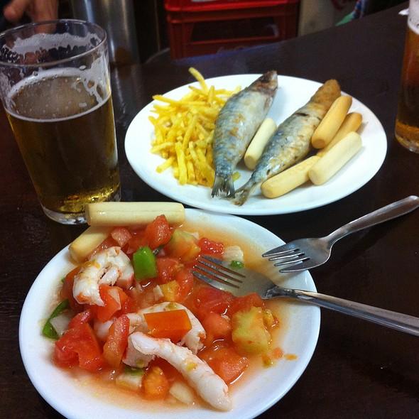 Fried Sardines And Seafood Salad @ BODEGA Santa CRUZ