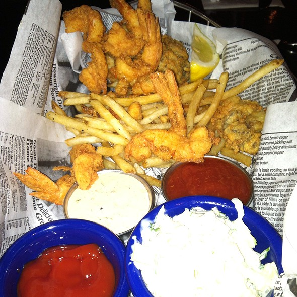 Fried Gulf Shrimp, Fried Oysters, French Fries @ Ford's Fish Shack