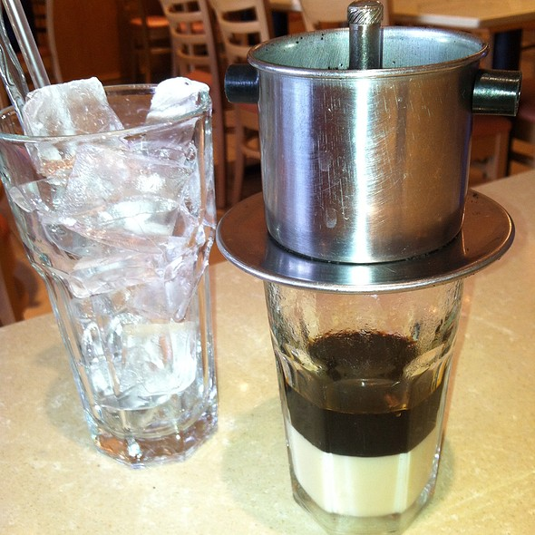 Iced Vietnamese Drip Coffee @ Pho Hai Duong Restaurant Inc