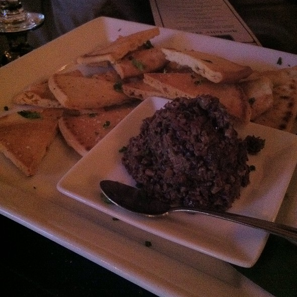 House-Made Olive Tapenade With Crostini @ POP Champagne and Dessert Bar