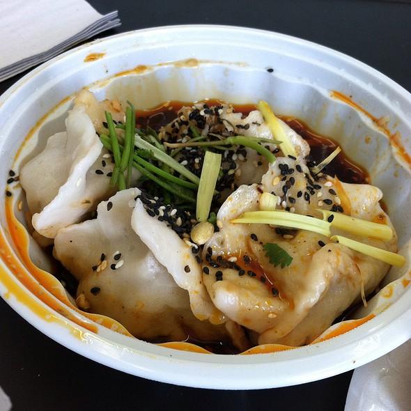 Spicy & Sour Lamb Dumplings @ Xi'an Famous Foods