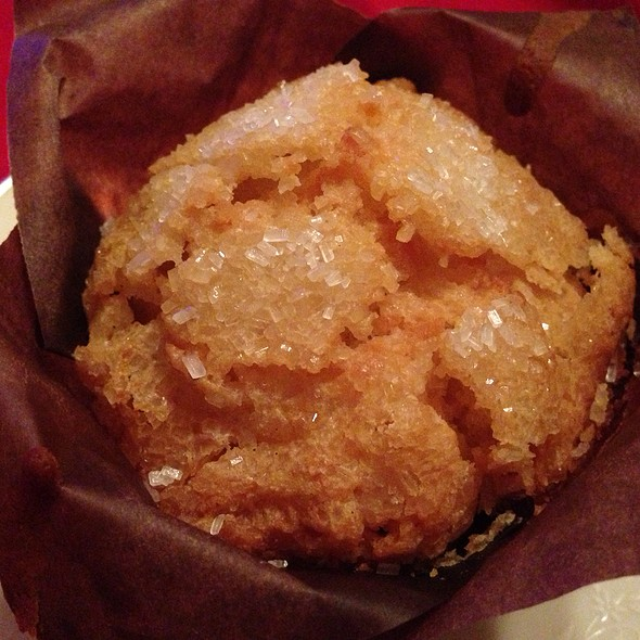 Candied Peach Ginger Muffin