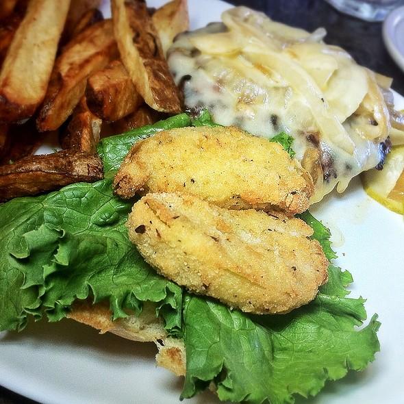 Fried Green Tomato Burger @ Berardi's Family Kitchen
