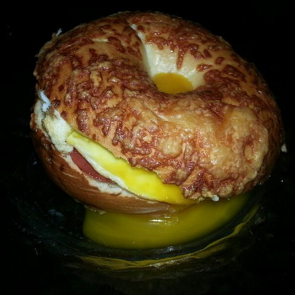 Capoccolo Egg Cheese On Asiago Bagel @ Home