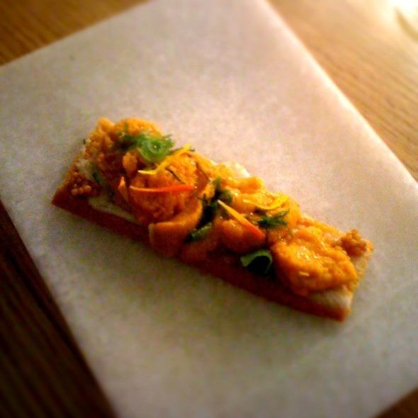 Sea Urchin Toast @ Aldea