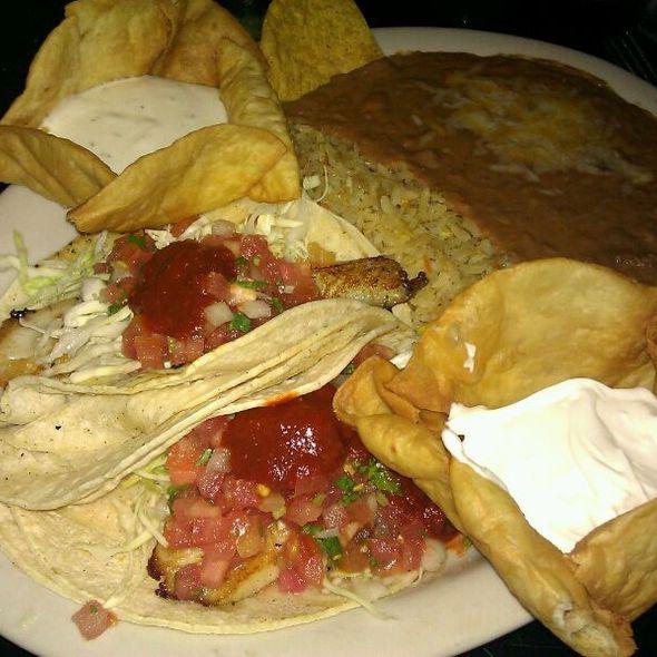 fish tacos @ Rosepepper Cantina