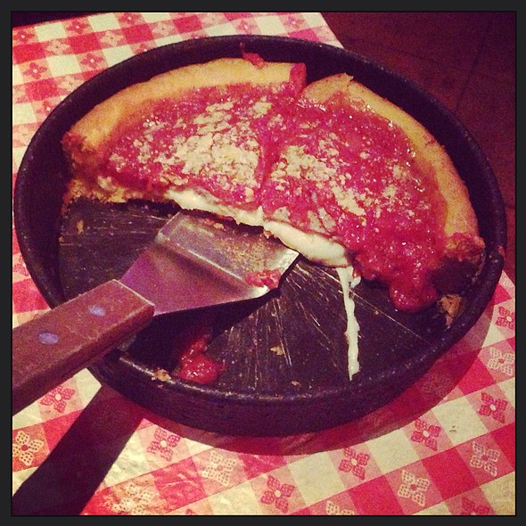 Deep-Dish with Sausage Patty Pizza @ Original Gino's East