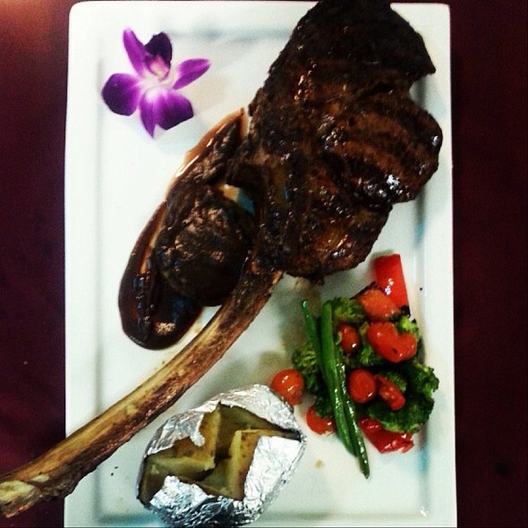 32 Ounce French Cut Ribeye With Fig Reduction @ Delta Lake Inn