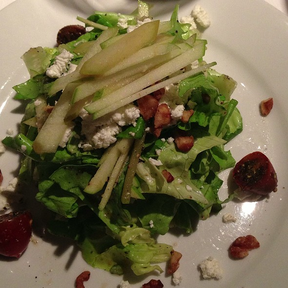 Local Baby Lettuces Tomato Sour Apple Goat Cheese Salad @ Langdon's Restaurant & Wine Bar
