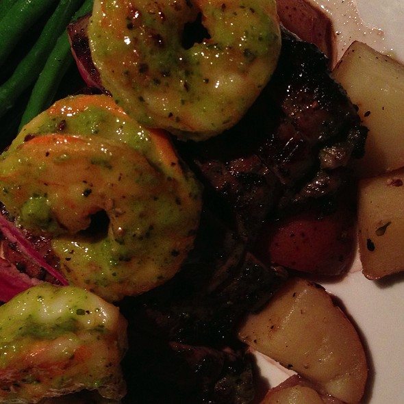 Flank Steak And Shrimp @ Langdon's Restaurant & Wine Bar