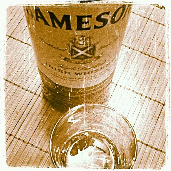 Jameson Irish Whiskey time again @ Mik's Parents House