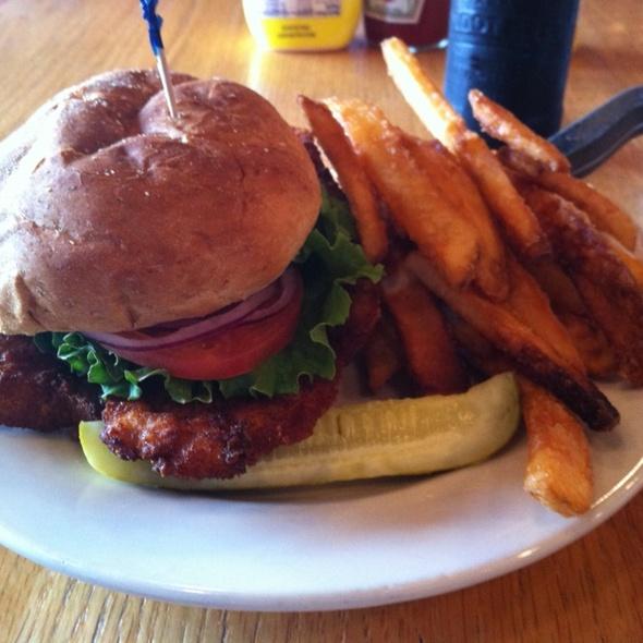 Breaded Pork Tenderloin Sandwich @ Upland Brewing Co