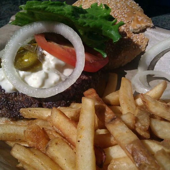 Bleu Cheese & Jalapeno Burger @ Twisted Root Burger Co
