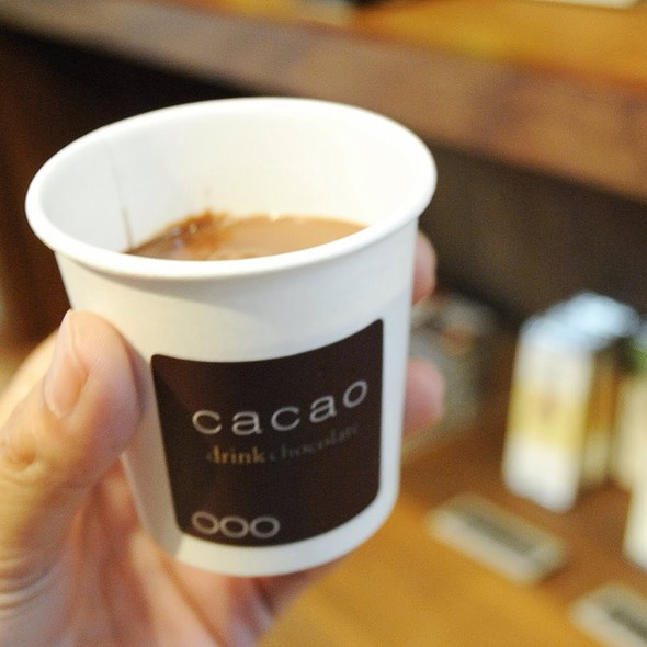 Drinkable chocolate @ Cacao DrinkChocolate