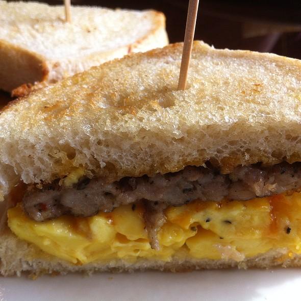 Breakfast Sandwich with Sausage @ Boudin Montgomery Village