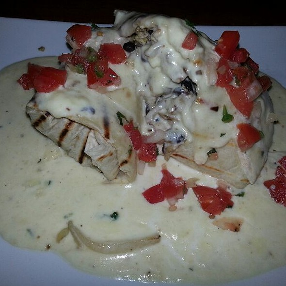 Chicken Breakfast Burrito @ 5 Seasons Brewing