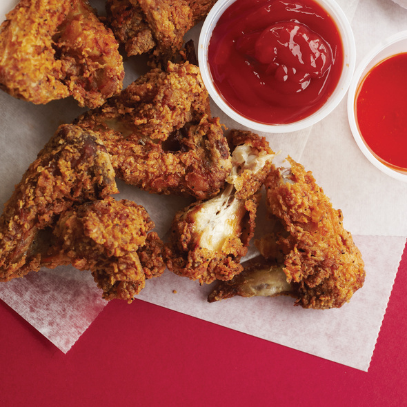 Cornmeal-Crusted Wings @ London's Wing House