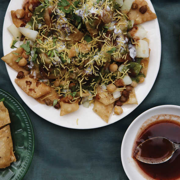 Samosa Chaat @ Gokul Snacks & Sweets