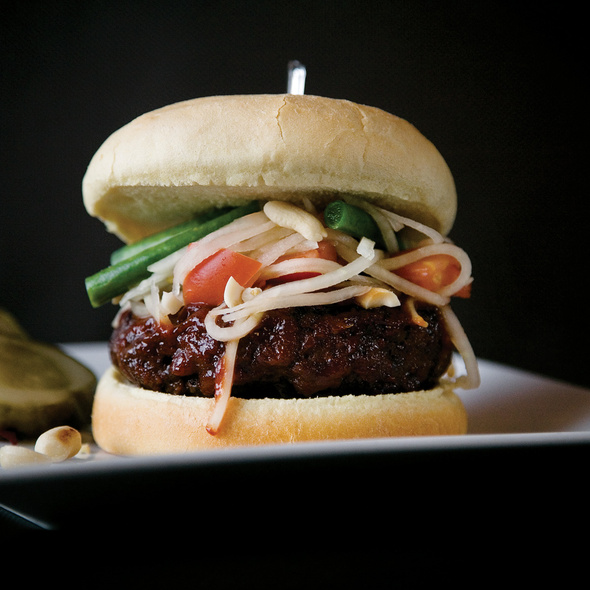 Thai Barbecue Burger @ Sub Zero Vodka Bar