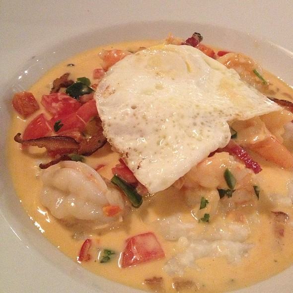 Shrimp And Grits + Over Easy Egg - Red Drum Restaurant and Bar, Mount Pleasant, SC