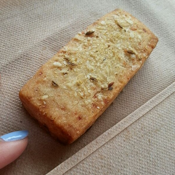 Parmesan Shortbread with Fennel and Sea Salt at Blue Bottle Coffee