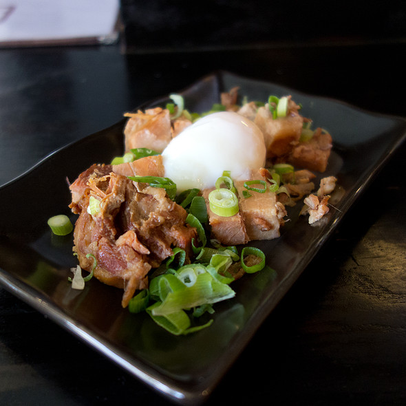 soft boiled egg and char sui
