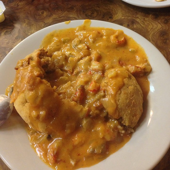 Boudin Ball Covered In Crawfish Etoufee @ Al- T's