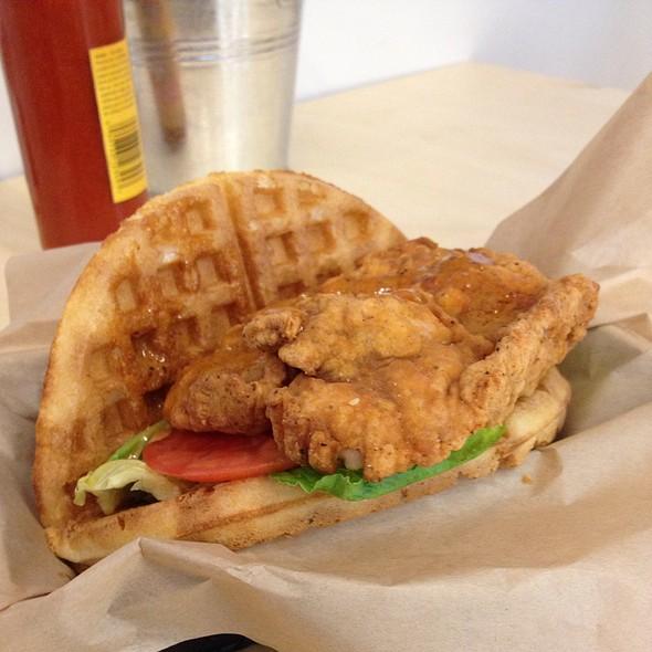Organic Buttermilk Fried Chicken Waffle Sandwich @ Gaufree