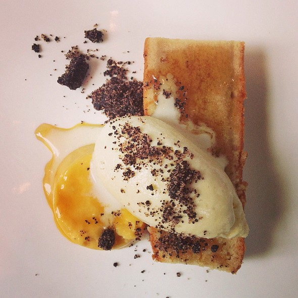 Carrot Panna Cotta, Maple Cake, Smoke Maple Buttermilk Gelato, Chocolate Malt