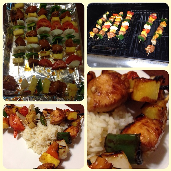 Sweet And Spicy Chicken Kabobs