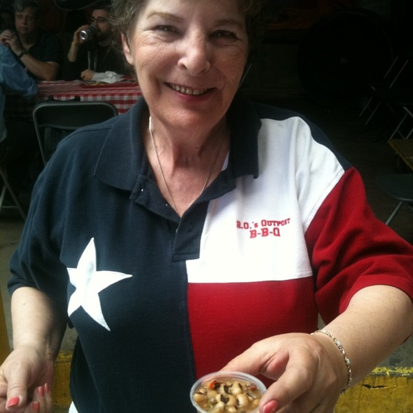 Jalapeno Black-Eyed Peas @ RO's Outpost BBQ in Spicewood
