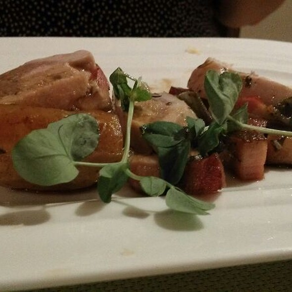 Roasted Pheasant with Bacon and Pancetta. - Elliott's on Linden, Pinehurst, NC
