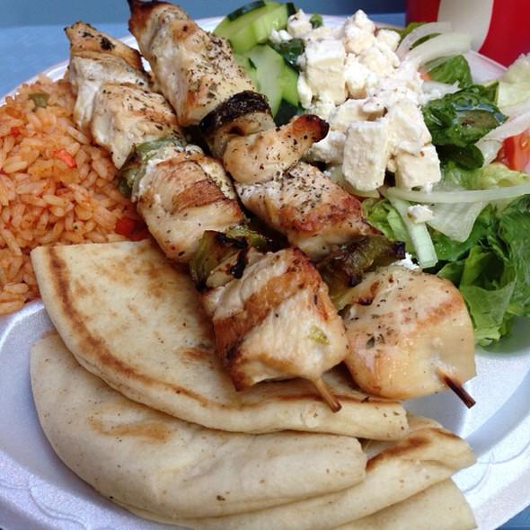 Chicken Souvlaki at Gyros And More