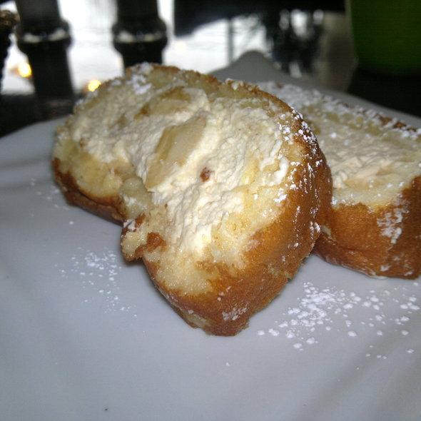 Caramel banana cream roll