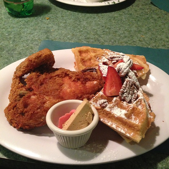 Dixie Fried Chicken And Pecan Waffles