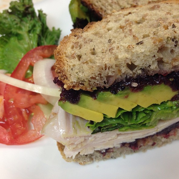 Turkey Avocado With Cranberry On Sour Dough