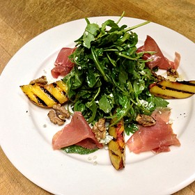 Salad Special With Grilled Peaches