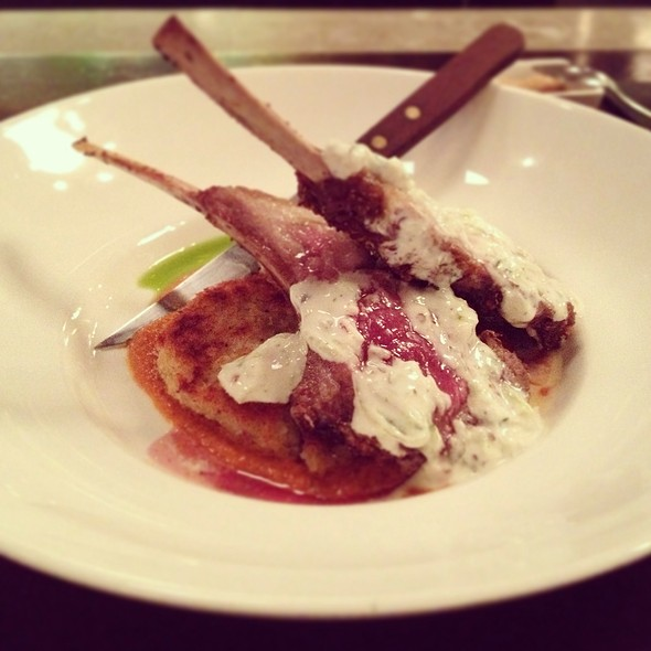 Lamb Chop, Corriander Crusted, Roasted @ Voltaire
