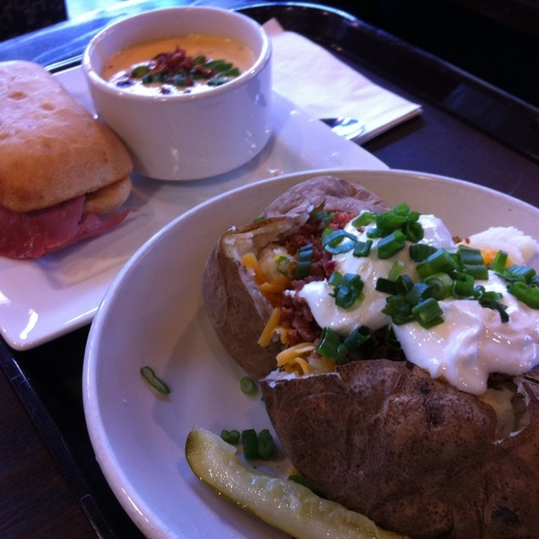 Reuben w/ Beer Cheese Soup & All American Baked Potato